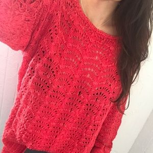 Chico's 3 CORAL Knit Sweater Top